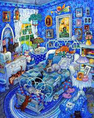 Patchwork Cats Wall Mural