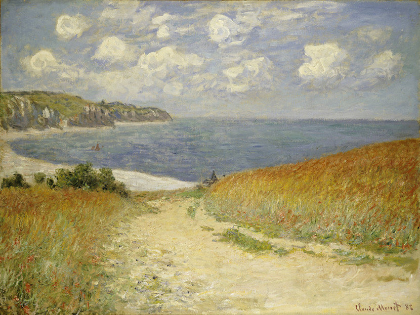 Path in the Wheat at Pourville, 1882 Wall Mural