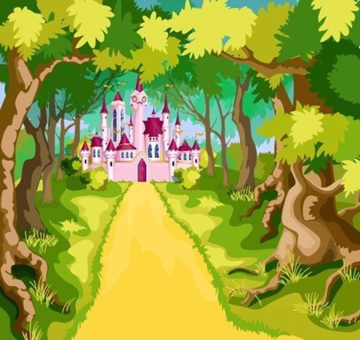 Path To The Pink Castle Wall Mural.jpg