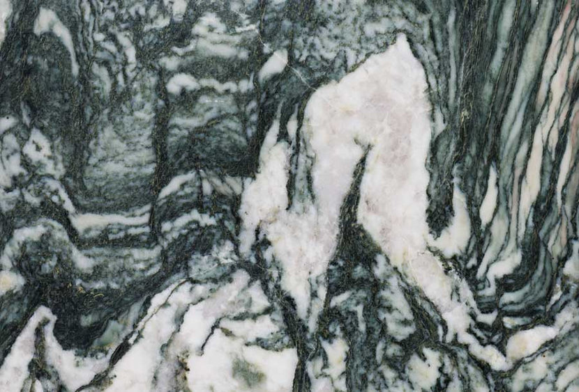 Black And White Wave Marble