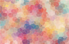 Multicolor Mosaic Mural Wallpaper
