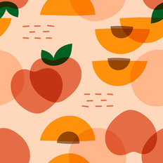Peachy Keen Pattern Wallpaper