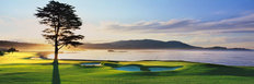 Pebble Beach Golf Links - 18th Hole Sunrise Wallpaper Mural
