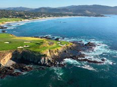 Pebble Beach Golf Links 7th Hole - Aerial Wallpaper Mural