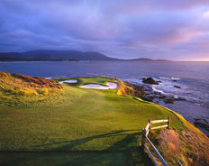 Pebble Beach Golf Links - 7th Hole Sunset Wallpaper Mural