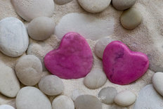 Pebble Love - Pink Mural Wallpaper