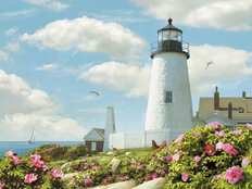 Pemaquid Point Light Wall Mural