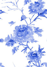 Peony Branches Pattern Wallpaper