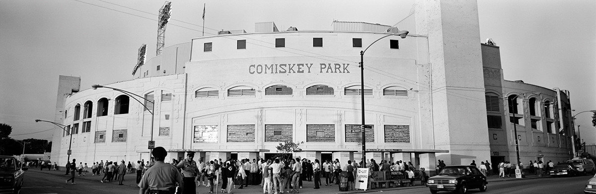 People Outside Comiskey Park Wall Mural
