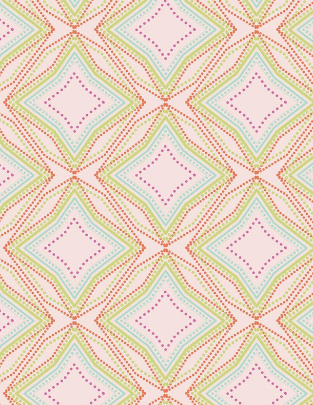 Petal and Plume - Seeing Stars Lime Wallpaper
