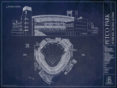 Petco Park Blueprint Wall Mural