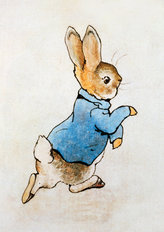 Peter Rabbit Running Wall Mural