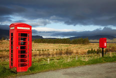 Phone Box & Post Box, Scotland Wallpaper Mural