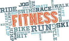 Physical Fitness Word Cloud Mural Wallpaper