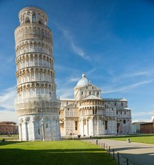 Piazza Dei Miracoli, With The Basilica And The Leaning Tower Wall Mural