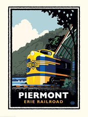 Piermont Erie Railroad Mural Wallpaper