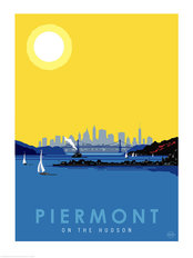 Piermont NYC Skyline Wall Mural