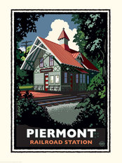 Piermont Train Station Wallpaper Mural