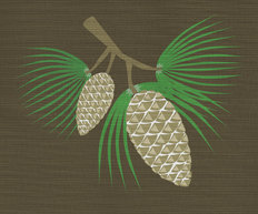 Pine Cones Mural Wallpaper