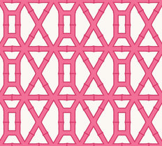 Pink Bamboo Pattern Mural Wallpaper