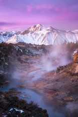 Pink Eastern Sierra  Wallpaper Mural