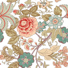 Pink and Mint Chinoiserie Wallpaper