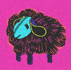 Pink Sheep Wall Mural