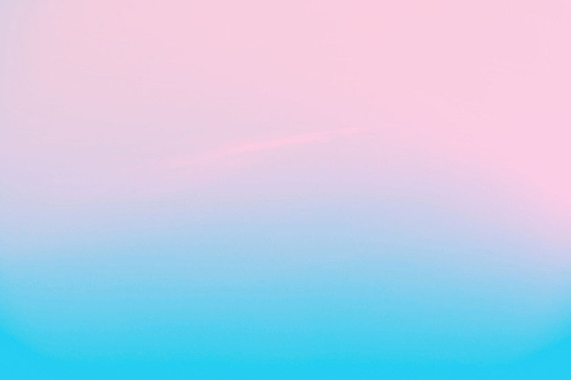 Pink To Blue Gradient Ombre