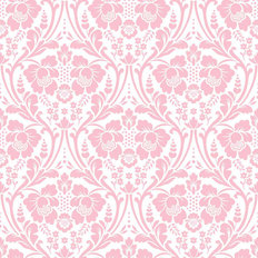 Pink Victorian Damask Pattern Wallpaper