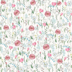 Pink Wildflower Pattern Wallpaper