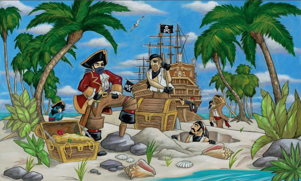 View larger image of EGI Pirates Wall Mural