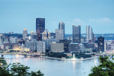 Pittsburgh At Dusk Wallpaper Mural