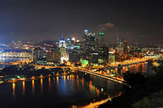 Pittsburgh Night Skyline Wall Mural