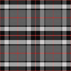 Pop Of Red Plaid Pattern Wallpaper