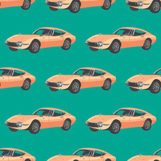 Porsche 912 Pattern Wallpaper