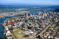 Portland - Aerial View Mural Wallpaper