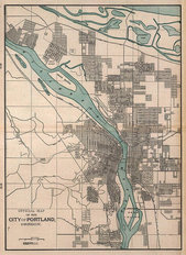 Portland, OR 1901 Map Wall Mural