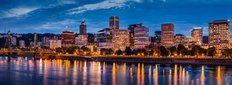 Portland Skyline PM 2 Wall Mural