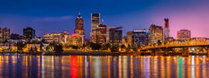 Portland Skyline PM Mural Wallpaper