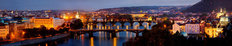 Prague at Dusk Wallpaper Mural