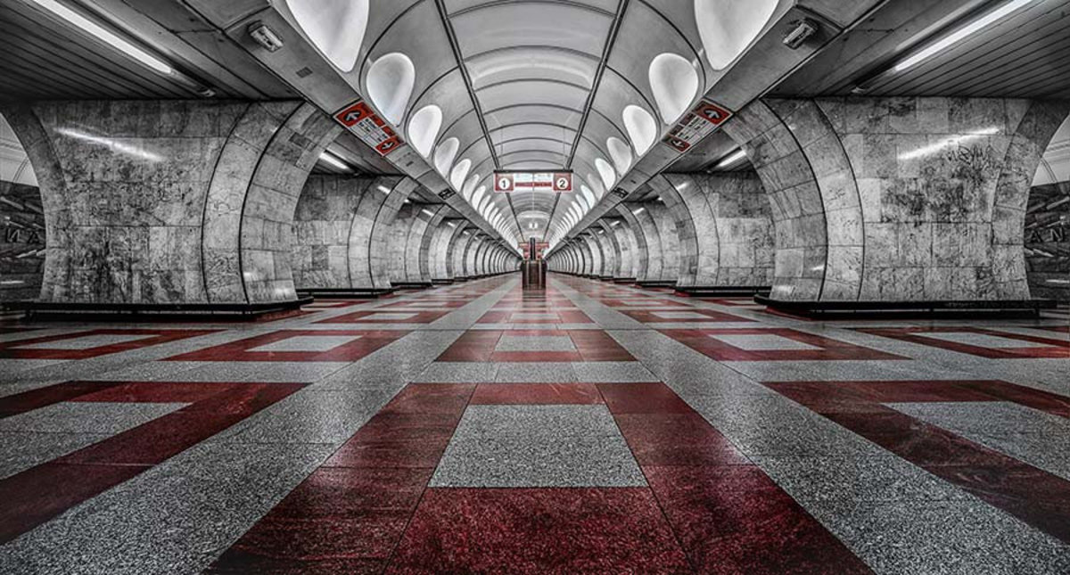 Prague Metro Mural Wallpaper