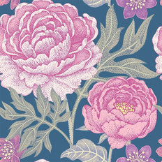 Pretty Peony Pattern Wallpaper