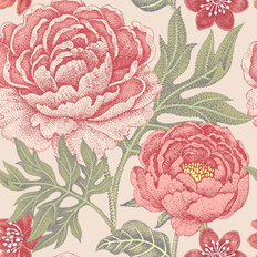 Pretty Peony Pattern - Pink Wallpaper
