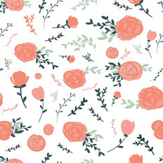 Pretty Pink Florals Wallpaper