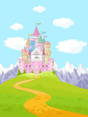 Princess Castle Landscape Wallpaper Mural