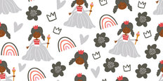 Princess Pattern Wallpaper