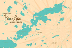 Prior Lake, MN Lake Map Wall Mural