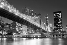 Queensboro Bridge Entering Manhattan Mural Wallpaper