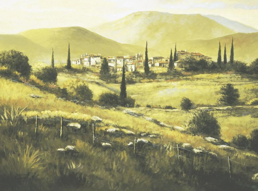 Quiet Fields Of Montalcino Mural Wallpaper