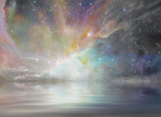 Quiet Waters and Starry Sky Mural Wallpaper